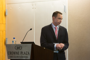 Paul Gennaro, senior vice president and chief communications officer, AECOM moderated the lunch keynote.