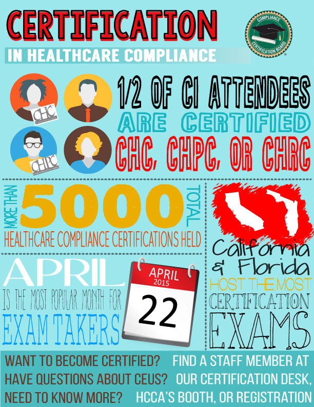 certification in healthcare compliance at the 2015 compliance ...