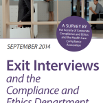 Exit Interviews and the Compliance and Ethics Department – 2014 Survey