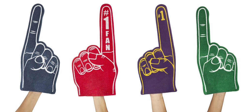Fan Foam Fingers Isolated