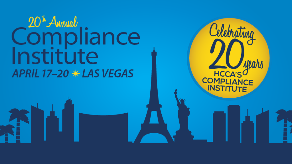 Getting the Most out of your 2016 Compliance Institute Experience