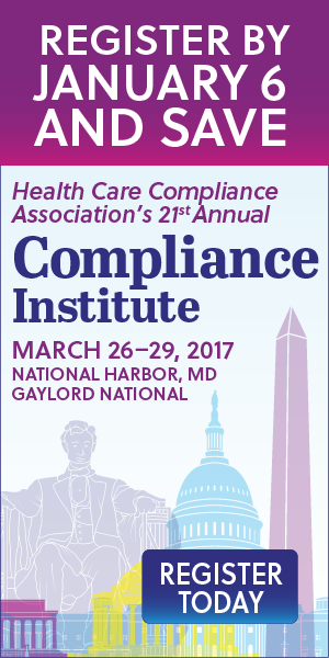 HCCA's 2017 Compliance Institute