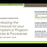 Developing the Framework of your Compliance Program Policies and Procedures [SlideShare]