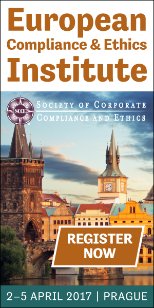 SCCE's European Compliance & Ethics Institute