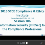 Information Security (InfoSec) for the Compliance Professional [SlideShare]